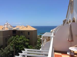 Blick von unserer Hotelterrasse auf den Atlantik.
