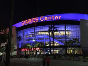 Das Staples Center in Downtown Los Angeles.