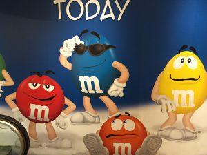 Der süße Wahnsinn im M&M Store.