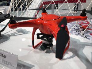 Drohnen über all auf der NAB Show in Las Vegas.