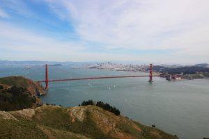 Unbestritten das Wahrzeichen von San Francisco, die Golden Gate Bridge.