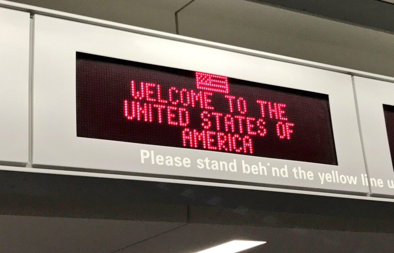 Willkommen in den USA.