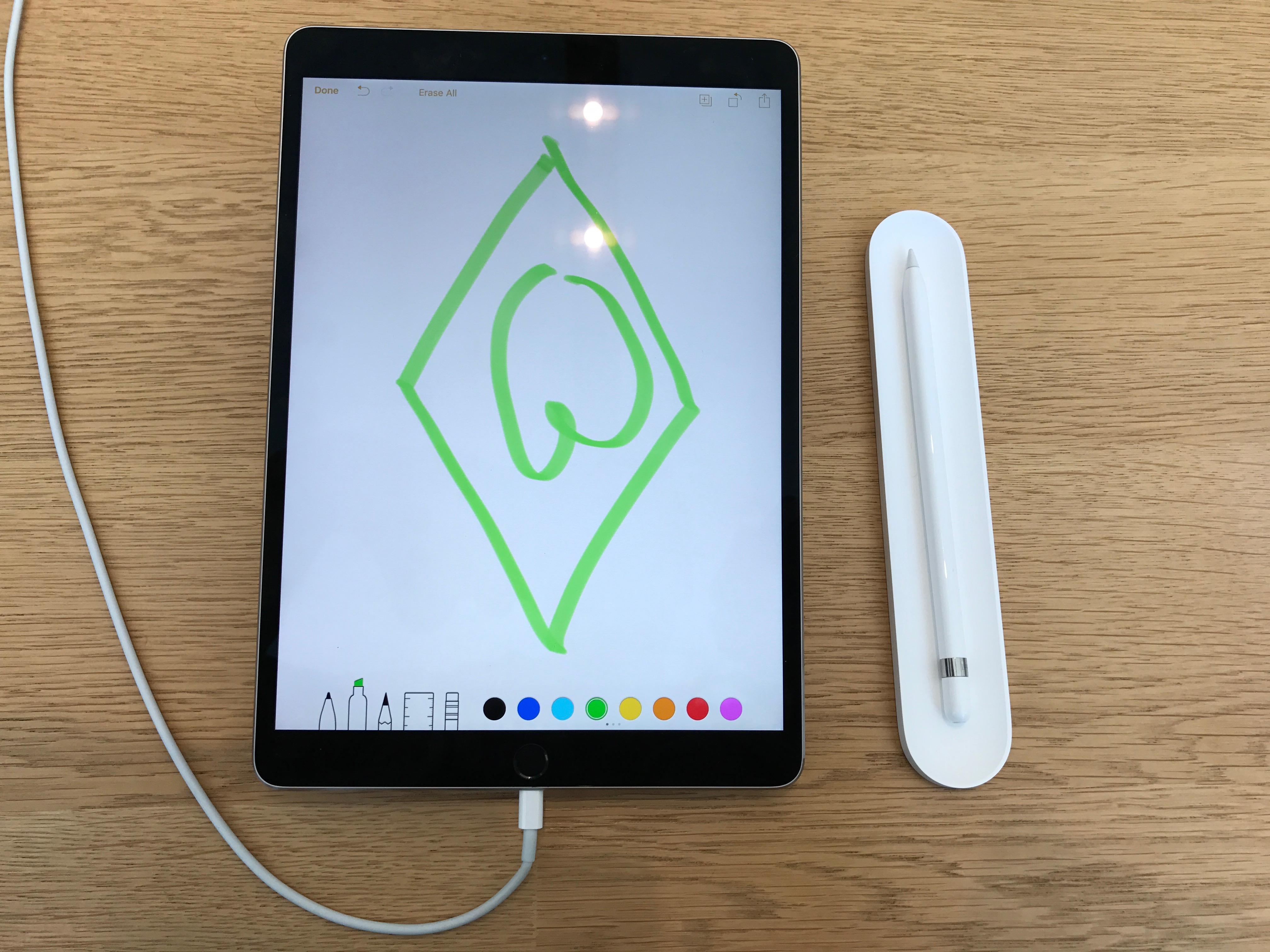Das neue iPad kann was. Zum Beispiel das Werder-Logo anzeigen.